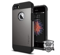 SPIGEN SGP  Tough Armor Gunmetal Etui iPhone 5/5S/SE