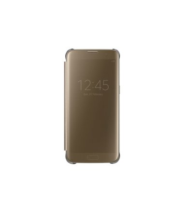 Samsung Clear View Cover Galaxy S7 Edge Gold