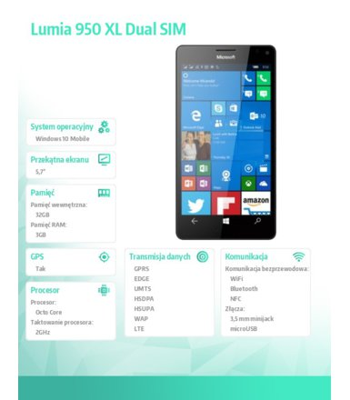 Microsoft Lumia 950 XL DS LTE Black
