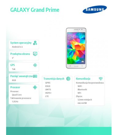 Samsung G530 Galaxy GRAND PRIME WHITE