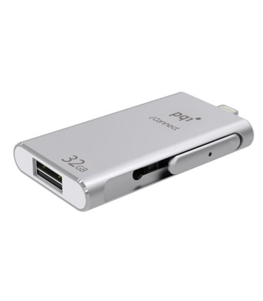 PQI Flash 32GB iConnect USB/ Lighting; Srebrny