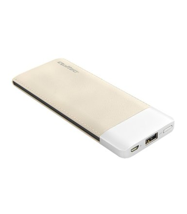 Qoltec Power Bank | coffee | 6000mAh Li-poly
