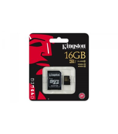 Kingston microSD 16GB Class10 UHS-I 90/45 MB/s