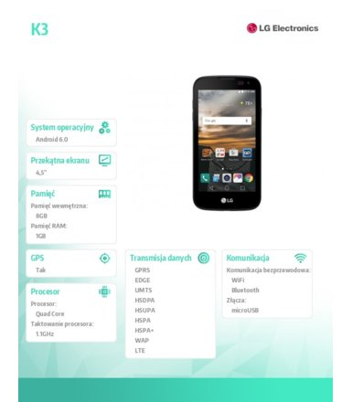 LG Electronics K3 K100DS Dual Sim Black/Blue