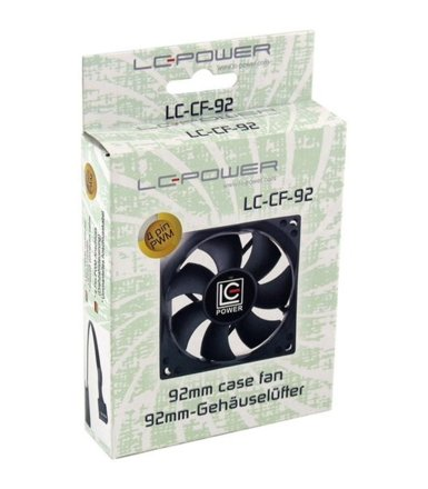 LC-POWER WENTYLATOR LC-POWER 92MM LC-CF-92 2200 RPM                       9,45 - 26 db(A),4pin, 17,15-46,8 cfm