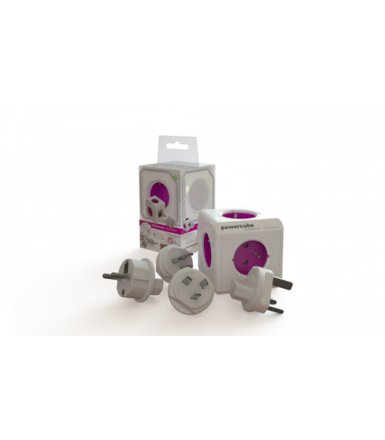 Allocacoc PowerCube ReWirable 1820 Purple + 4 Plugs