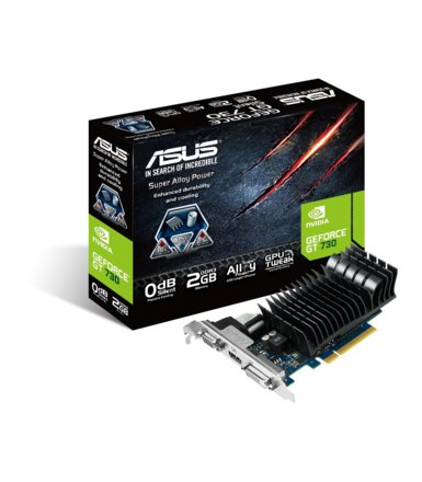 Asus GeForce CUDA GT730 2GB DDR3 PCI-E 64BIT DVI/HDMI/DSub