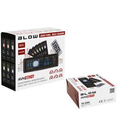 BLOW RADIO AVH-8674 MP3 + PILOT, multicolor