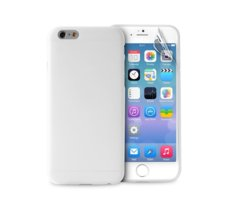 PURO Ultra Slim 0.3 mm etui + folia iPhone 6/6s transparentne