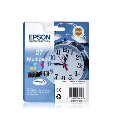 Epson Trójpak kolor T2705 CMY do WF-3620DWF(3x10.8ml)