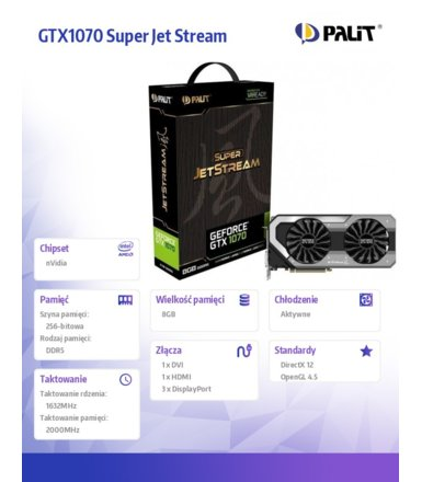 Palit GTX1070 Super JetStream 8GB DDR5 256BIT