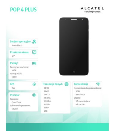 Alcatel  POP 4 PLUS DS 5056D GREY