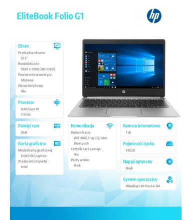 HP Inc. EliteBook Folio G1  V1C39EA