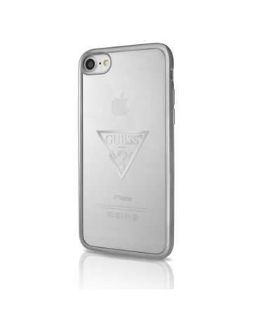 GUESS Etui hardcase GUHCP7TRTLSI iPhone 7 srebrny Triangle