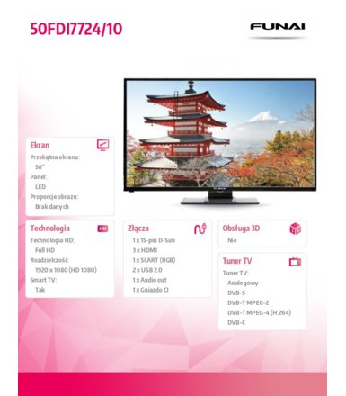 Funai 50'' LED       50FDI7724/10