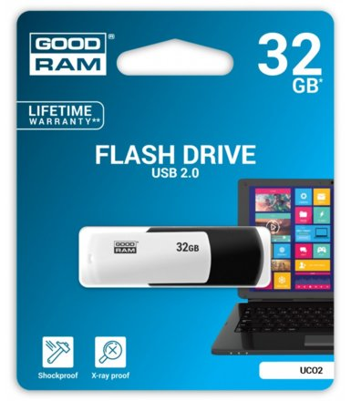 GOODRAM COLOR MIX 32GB USB 2.0 Czarno-biały