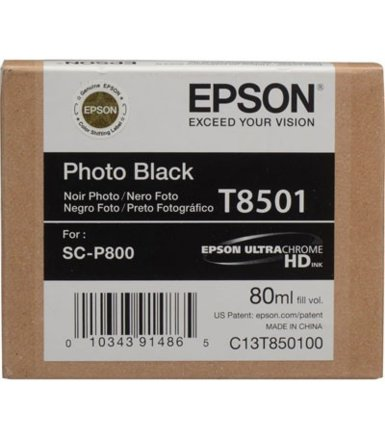 Epson Singlepack Photo BLACK cartridge, T850100