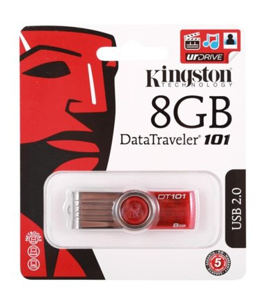 Kingston Data Traveler 101 Gen2   8GB USB2.0 Red