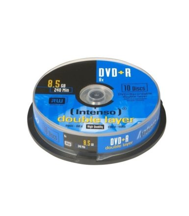 Intenso DVD+R 8x 8,5GB Double Layer (10 Cake)