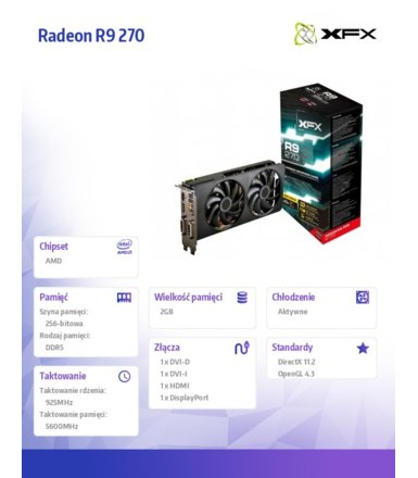 XFX RADEON R9 270 BOOST Double Dissipation (R9-270A-CDFC)