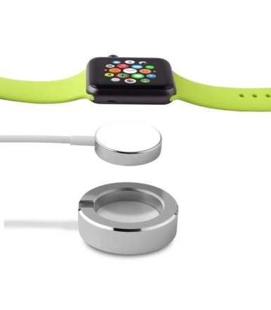 PURO Mini Desk Holder - Mini stacja dokująca Apple Watch (srebrny)