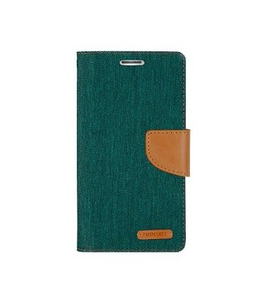 Mercury Etui CANVAS Galaxy J5 zielono/karmelowe, notes