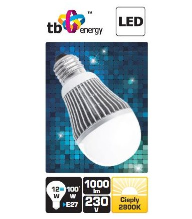 TB Energy LED TB Energy E27 230V 12W Bialy cieply