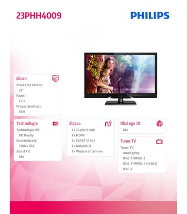 Philips 23'' LED   23PHH4009