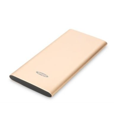 EDNET Akumulator Power Bank SLIM LINE 2xUSB A, do Smartphonów, Tabletów 5000mAh, złoty