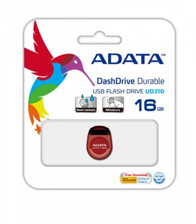 Adata DashDrive Durable UD310 16GB USB2.0 czerwony - micro