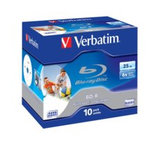 Verbatim BD-R 6x 25GB 10P JC Printable 43713