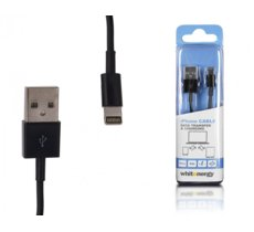 Whitenergy Kabel iPhone 5/6 - USB, 2m, czarny