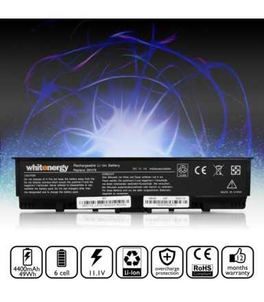 Whitenergy Bateria Dell Inspiron 1520/1720 4400mAh Li-Ion 11,1V