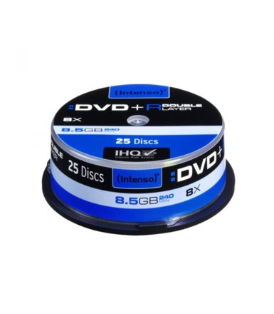 Intenso DVD+R 8x 8,5GB Double Layer (25 Cake)