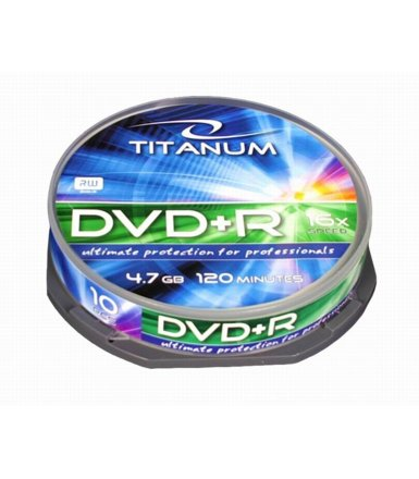 Titanum DVD+R 4,7 GB x16 - Cake Box 10