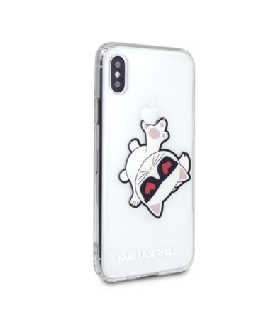 Karl Lagerfeld Etui hardcase KLHCPXCFHE iPhone X/Xs transparent Choupette Fun