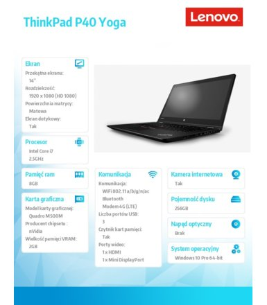 Lenovo ThinkPad P40 Yoga 20GQ000JPB