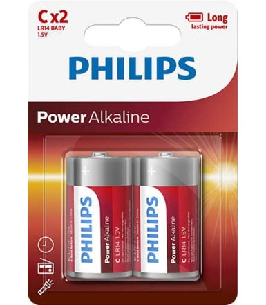 Philips Baterie Power Alkaline C 2szt. blister