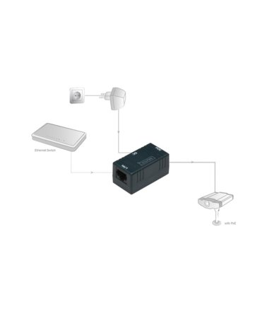 Digitus Zasilacz/Adapter PoE FastEthernet 10/100Mbps, pasywny DC 5.5mm