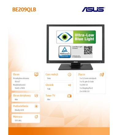Asus 19.5' BE209QLB