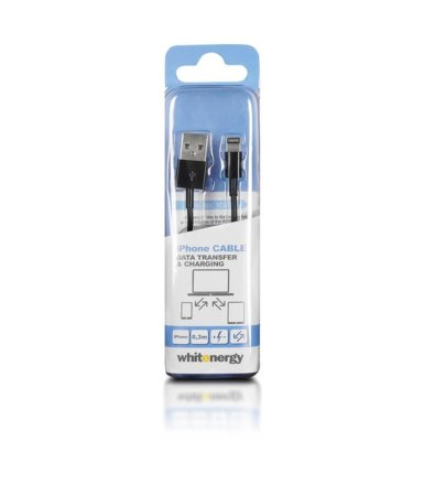 4world Kabel do transferu danych USB iPHONE 5, 30cm, czarny