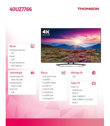 Thomson 40'' LED  UHD              40UZ7766
