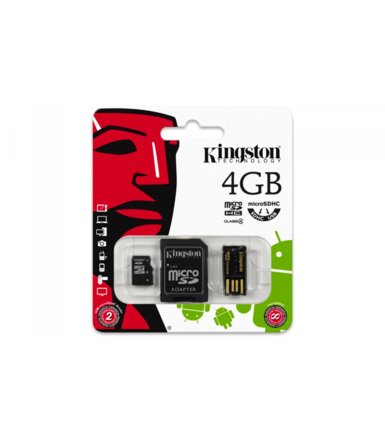 Kingston microSDHC  4GB class  4 + adapter + czytnik USB