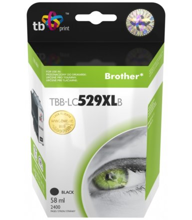 TB Print Tusz do Brother LC529/539 BLACK  TBB-LC529XLB