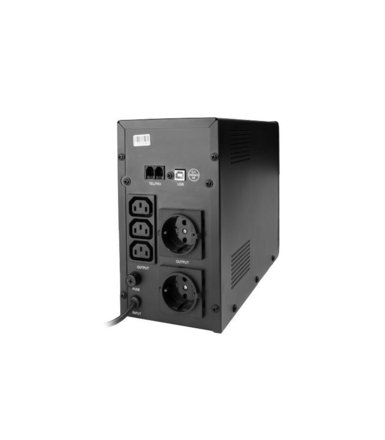 Gembird UPS LINE-INTERACTIVE 1200VA 3X IEC, 2X SCHUKO 230V, USB, RJ11 IN/OUT, LCD