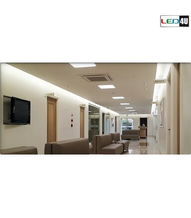 Maclean Panel LED sufitowy podtynkowy slim 12W Warm white 2800-3200K Led4U LD154W 170*170*H20mm