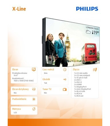 Philips Monitor 55BDL3005X 55 cali Public Display