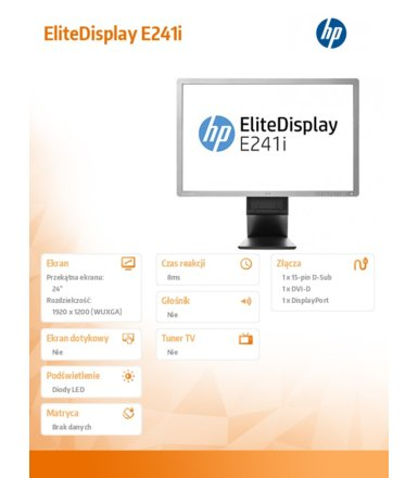 HP EliteDisplay E241i (F0W81AA)