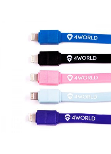 4world Candy Cable, kabel do przesyłu danych, Lightning