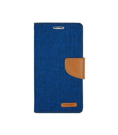Mercury Etui CANVAS Galaxy A7 niebiesko/karmelowe, notes